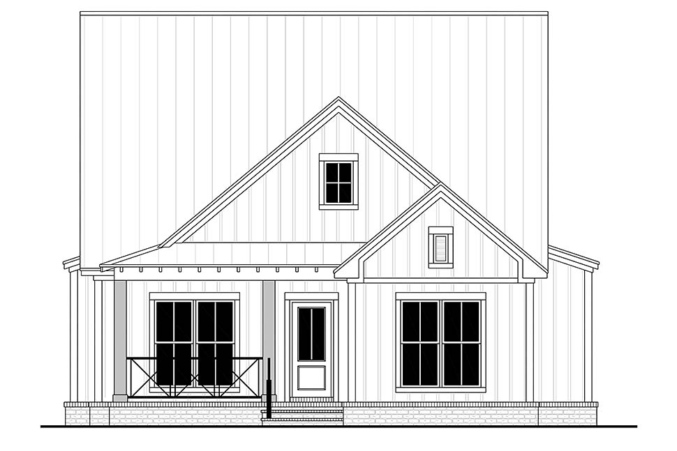 Country, Farmhouse, Traditional House Plan 80815 with 4 Beds, 4 Baths, 2 Car Garage Picture 3