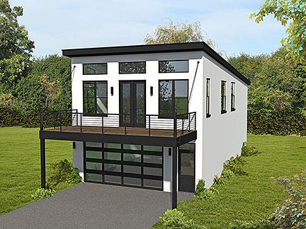 Garage-Living Plan 80901