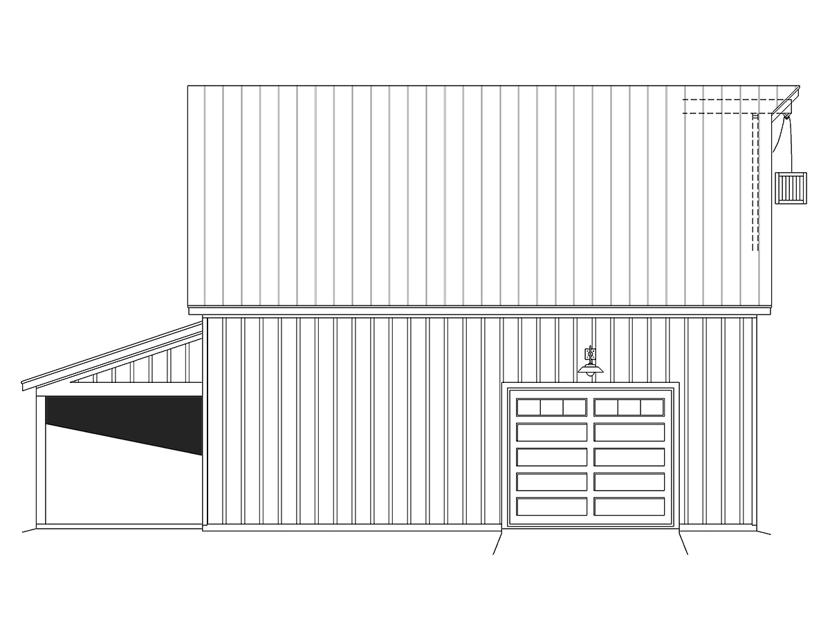 Country Farmhouse Ranch Traditional Rear Elevation of Plan 80914