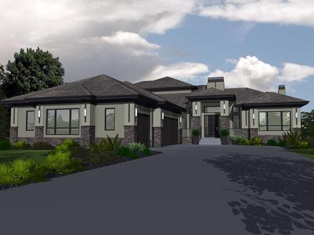 Bungalow House Plan 81143 with 5 Beds, 3 Baths, 3 Car Garage