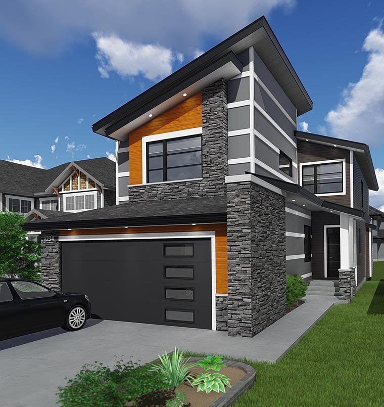 Contemporary Modern House Plan 81186 Elevation