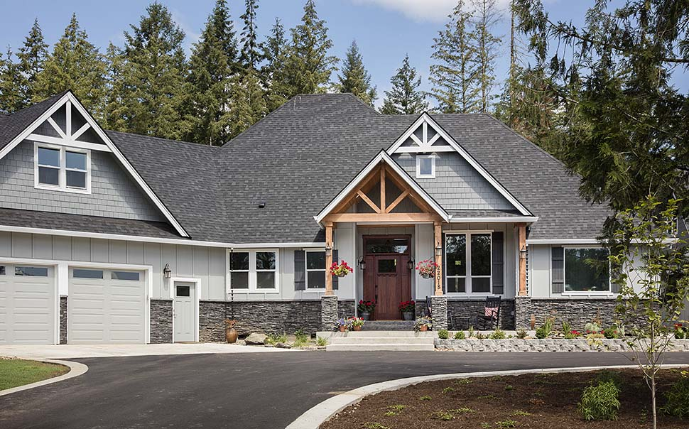 Country, Craftsman Plan with 2233 Sq. Ft., 3 Bedrooms, 3 Bathrooms, 2 Car Garage Picture 3