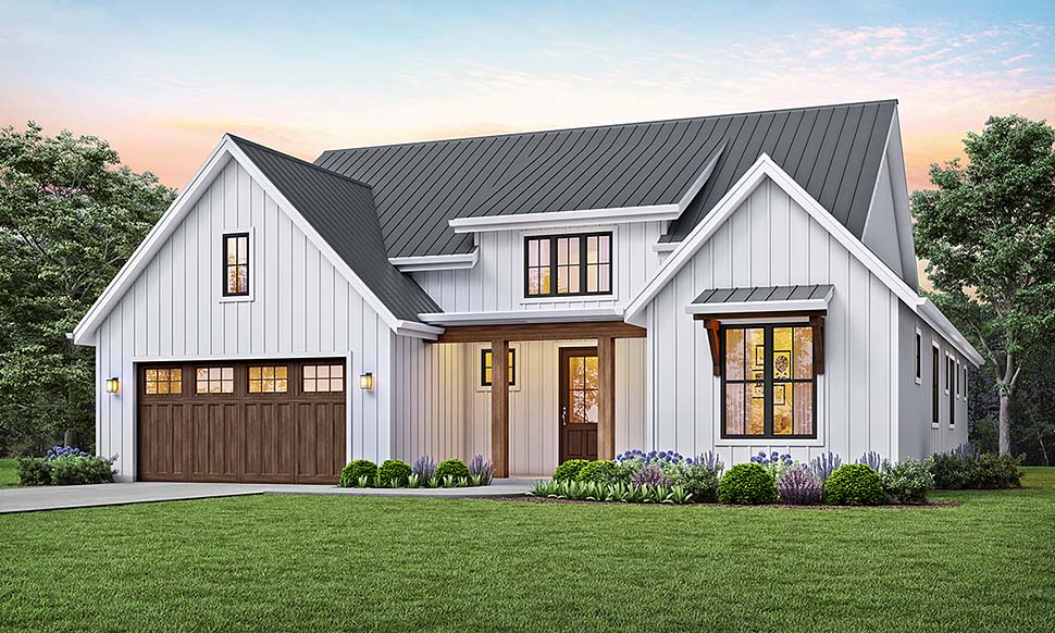 Modern Style House Plan 81205 with 3 Bed, 2 Bath, 2 Car Garage