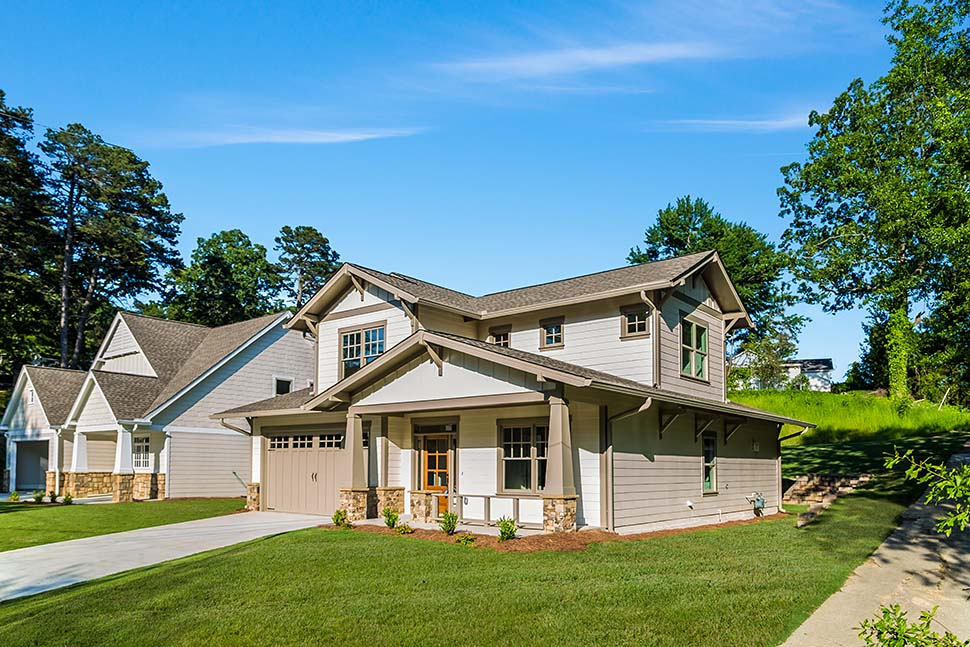 Bungalow, Craftsman House Plan 81211 with 3 Beds, 3 Baths, 2 Car Garage Picture 4