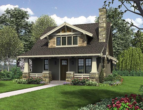 Bungalow, Cottage, Craftsman House Plan 81214 with 3 Beds, 3 Baths Elevation