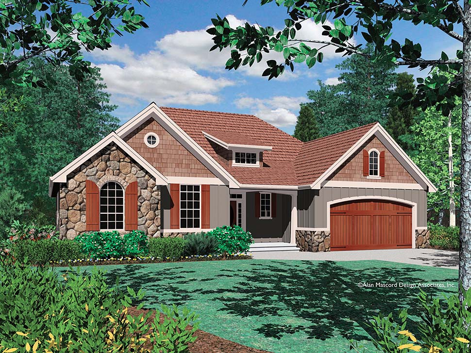 Bungalow, Craftsman House Plan 81227 with 3 Beds, 2 Baths, 3 Car Garage Picture 12