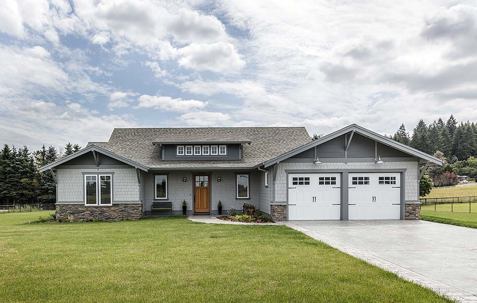 Bungalow, Craftsman House Plan 81229 with 3 Beds, 3 Baths, 2 Car Garage Picture 3