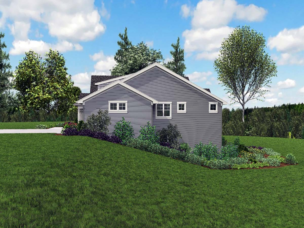 Craftsman, Ranch House Plan 81230 with 5 Beds, 3 Baths, 3 Car Garage Picture 1