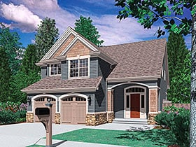 Craftsman , Traditional House Plan 81233 with 3 Beds, 3 Baths, 2 Car Garage Elevation