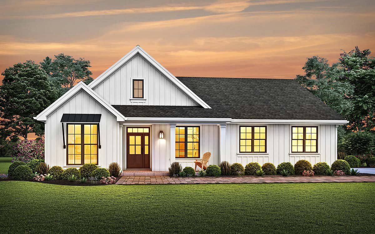 Cottage, Country, Ranch, Traditional House Plan 81241 with 3 Beds, 3 Baths, 2 Car Garage Elevation