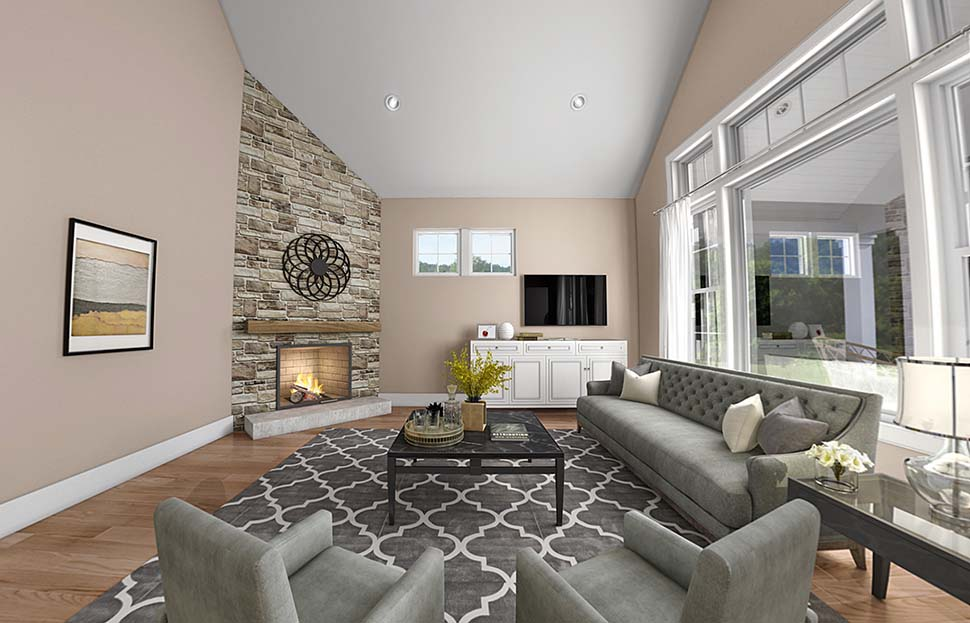 Cottage, Country, Ranch, Traditional House Plan 81241 with 3 Beds, 3 Baths, 2 Car Garage Picture 2