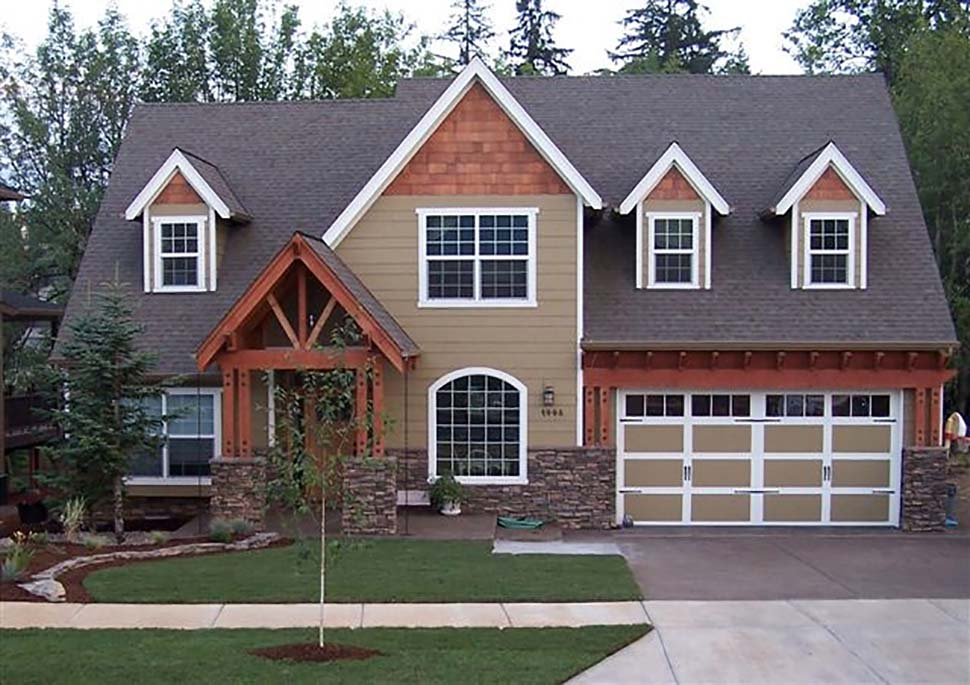 Craftsman, European, French Country, Traditional House Plan 81255 with 4 Beds, 3 Baths, 3 Car Garage Picture 2