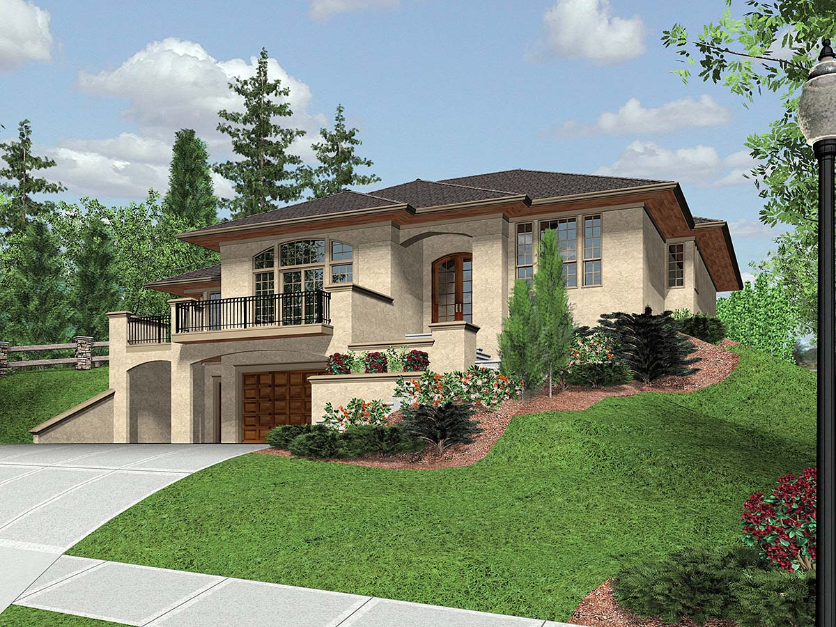 Coastal, Contemporary, Prairie House Plan 81264 with 3 Beds, 3 Baths, 2 Car Garage Elevation