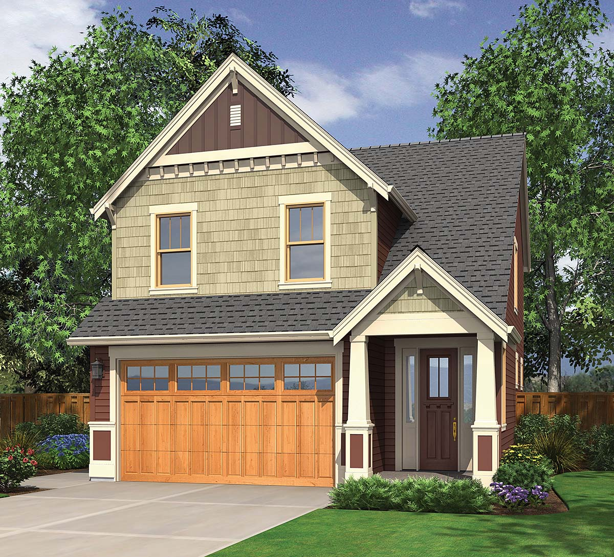 Bungalow, Craftsman House Plan 81281 with 3 Beds, 3 Baths, 2 Car Garage Elevation