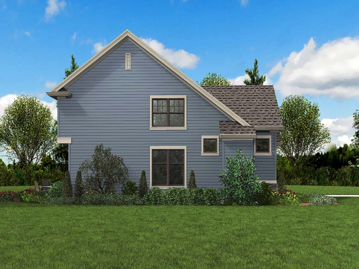 Bungalow, Colonial, Cottage, Craftsman, Narrow Lot House Plan 81293 with 3 Beds, 3 Baths, 1 Car Garage Picture 2