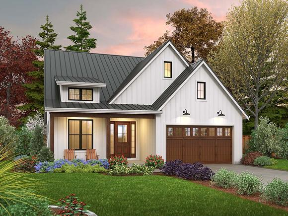 Contemporary, Cottage, Country, Farmhouse, Ranch House Plan 81308 with 3 Beds, 2 Baths, 2 Car Garage Elevation