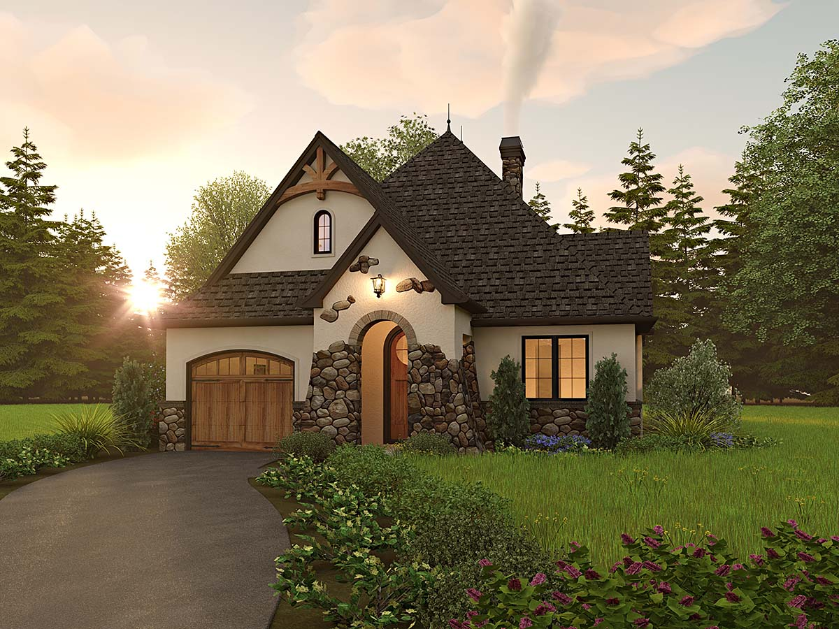 Cottage, European, Traditional House Plan 81309 with 2 Beds, 2 Baths, 2 Car Garage Elevation