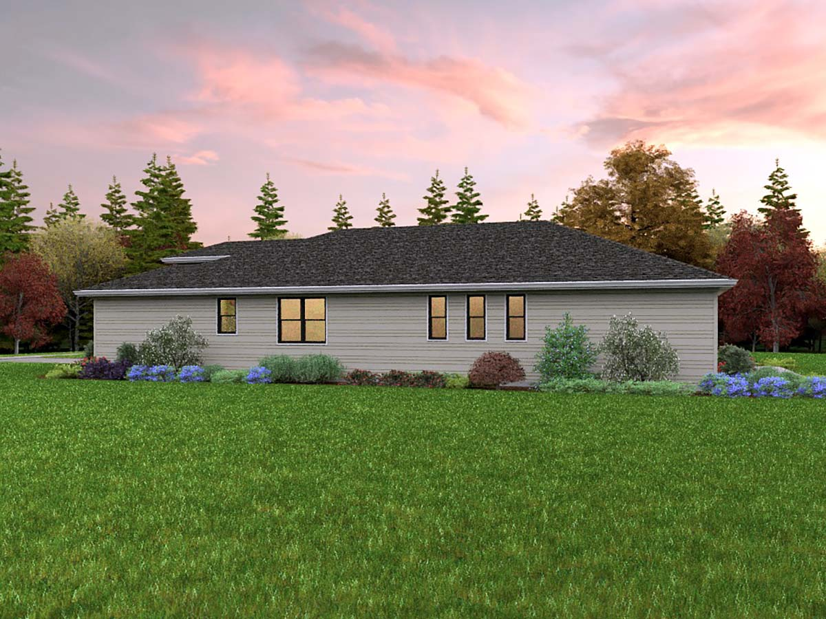 Contemporary, Prairie House Plan 81311 with 3 Beds, 2 Baths, 2 Car Garage Picture 1