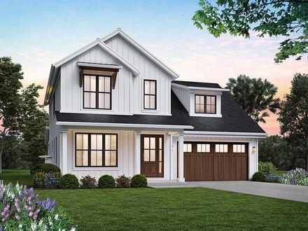 Contemporary, Farmhouse House Plan 81314 with 4 Beds, 3 Baths, 2 Car Garage