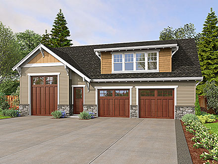 Garage-Living Plan 81326