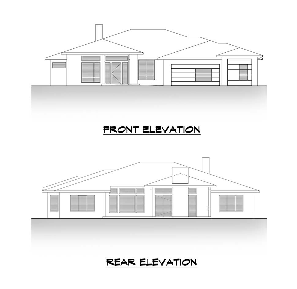 Contemporary, Modern House Plan 81906 with 4 Beds, 4 Baths, 3 Car Garage Picture 3