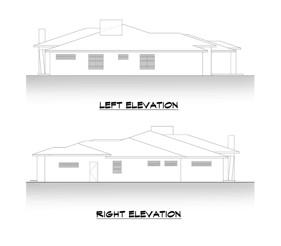 Contemporary, Modern House Plan 81906 with 4 Beds, 4 Baths, 3 Car Garage Picture 4