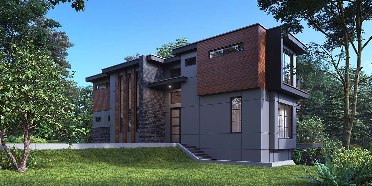 Modern House Plan 81928 with 4 Beds, 5 Baths, 2 Car Garage Picture 1