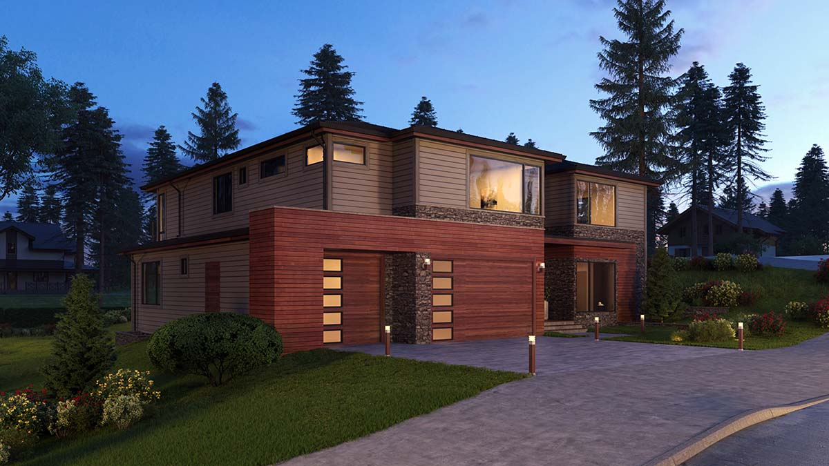 Contemporary, Modern, Prairie House Plan 81929 with 5 Beds, 6 Baths, 3 Car Garage Picture 1