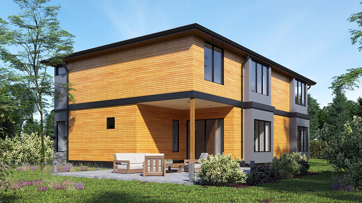 Contemporary, Modern House Plan 81930 with 4 Beds, 3 Baths, 2 Car Garage Picture 1