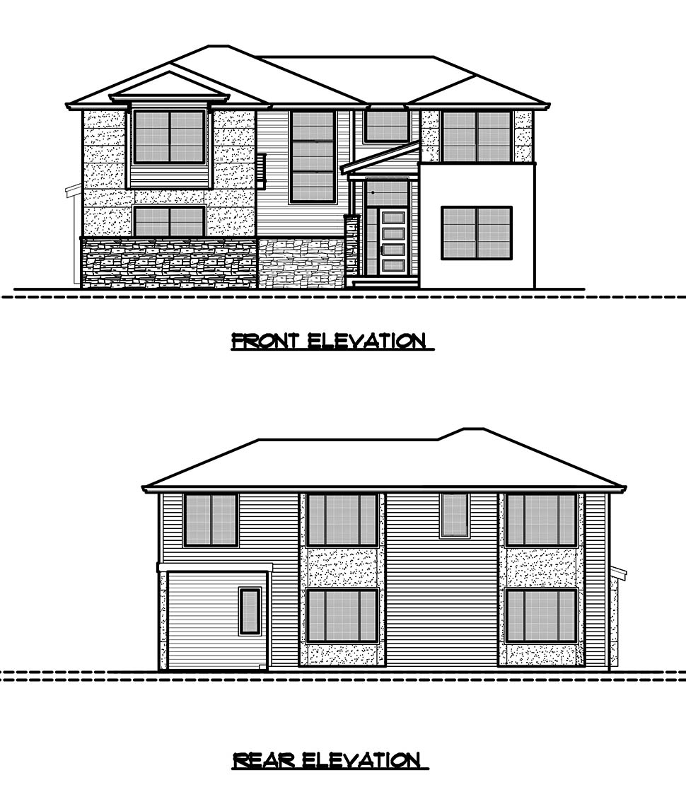 Contemporary, Modern House Plan 81930 with 4 Beds, 3 Baths, 2 Car Garage Picture 8