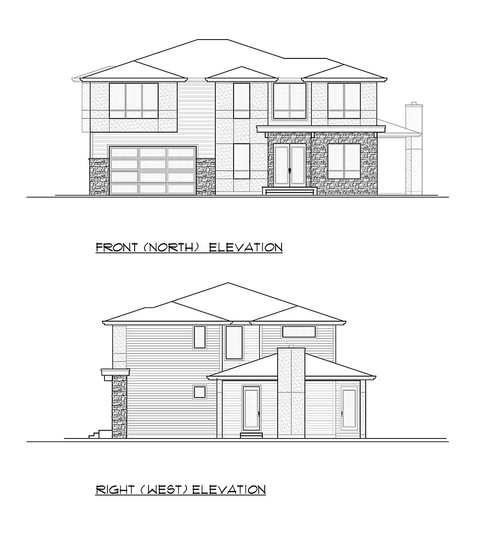 Contemporary, Modern House Plan 81935 with 4 Beds, 3 Baths, 2 Car Garage Picture 3