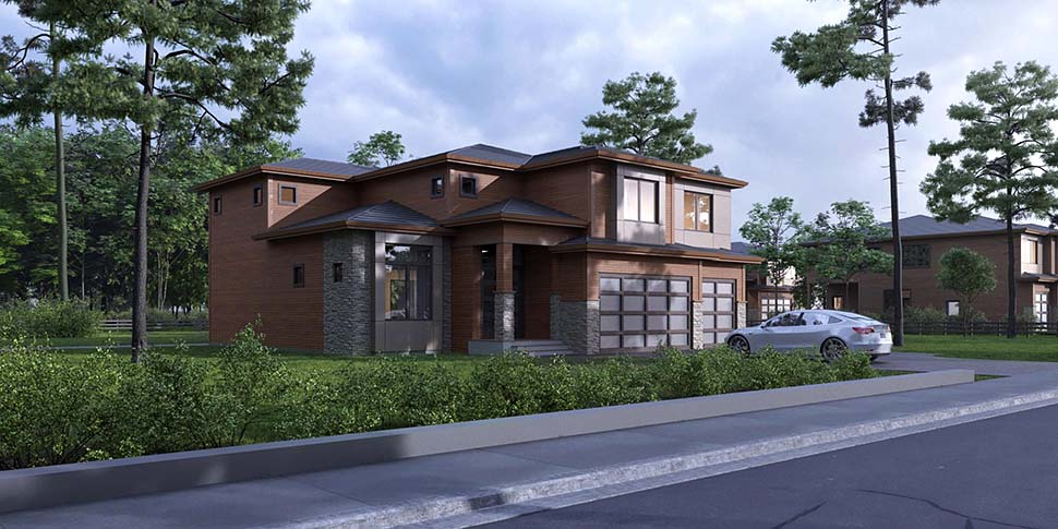 Contemporary, Modern House Plan 81936 with 4 Beds, 5 Baths, 3 Car Garage Picture 2