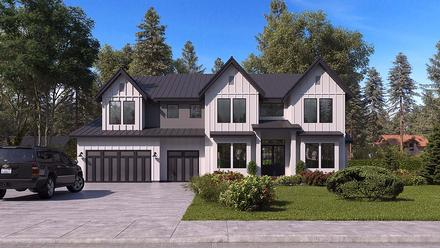 Craftsman, Farmhouse, Traditional House Plan 81956 with 5 Beds, 6 Baths, 3 Car Garage