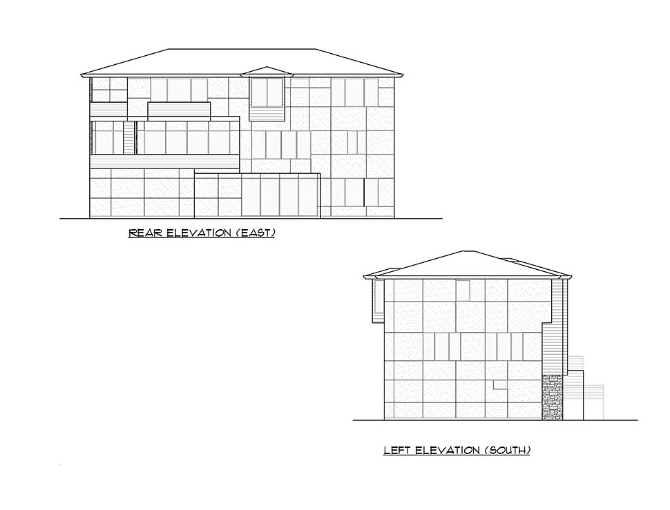 Contemporary, Modern House Plan 81957 with 4 Beds, 6 Baths, 4 Car Garage Picture 4