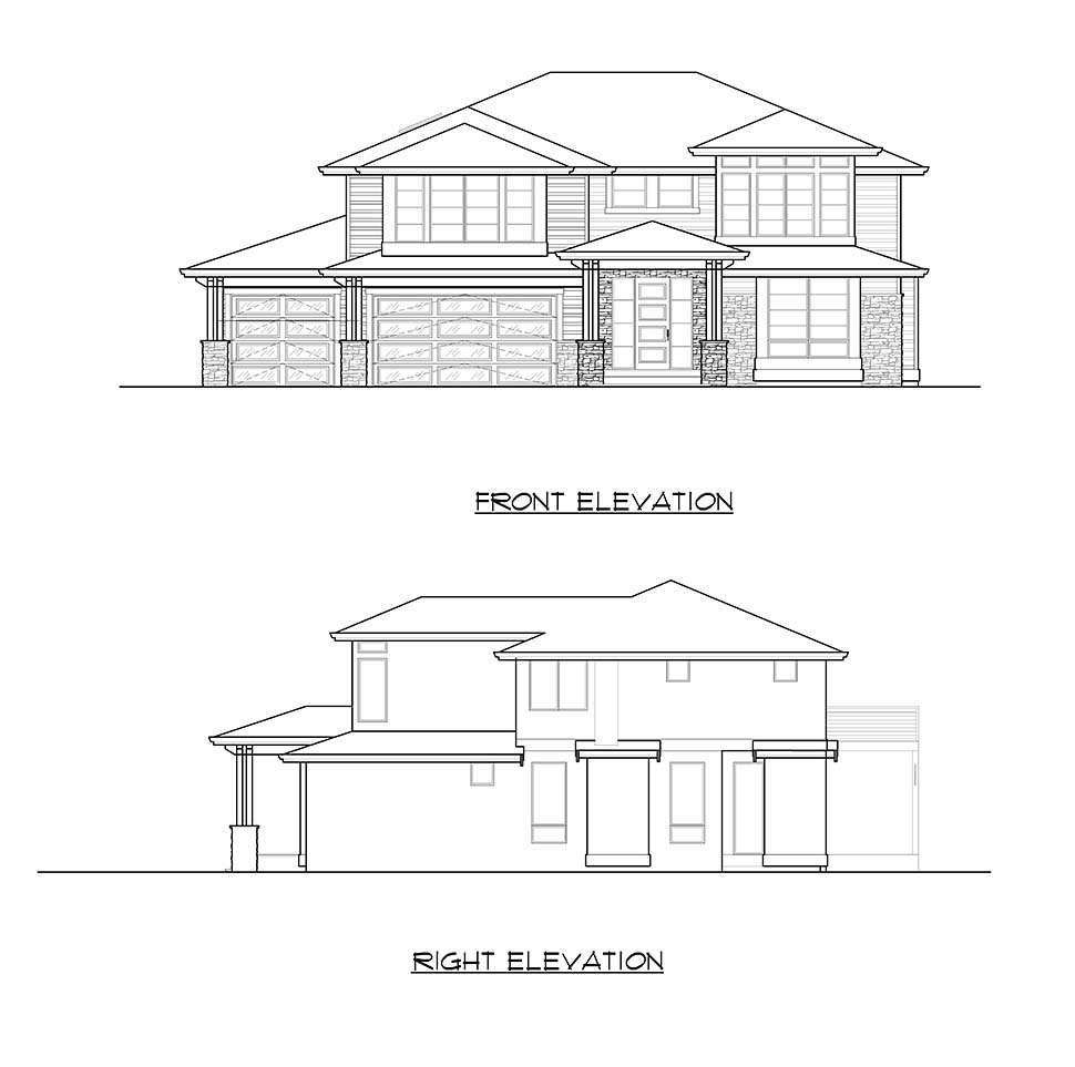 Colonial, Contemporary, Traditional House Plan 81960 with 3 Beds, 4 Baths, 3 Car Garage Picture 3