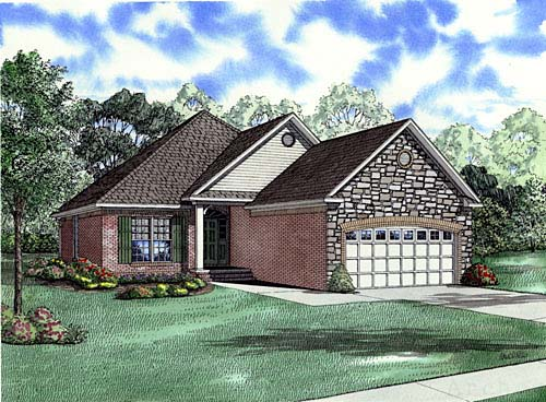Craftsman European House Plan 82001 Elevation