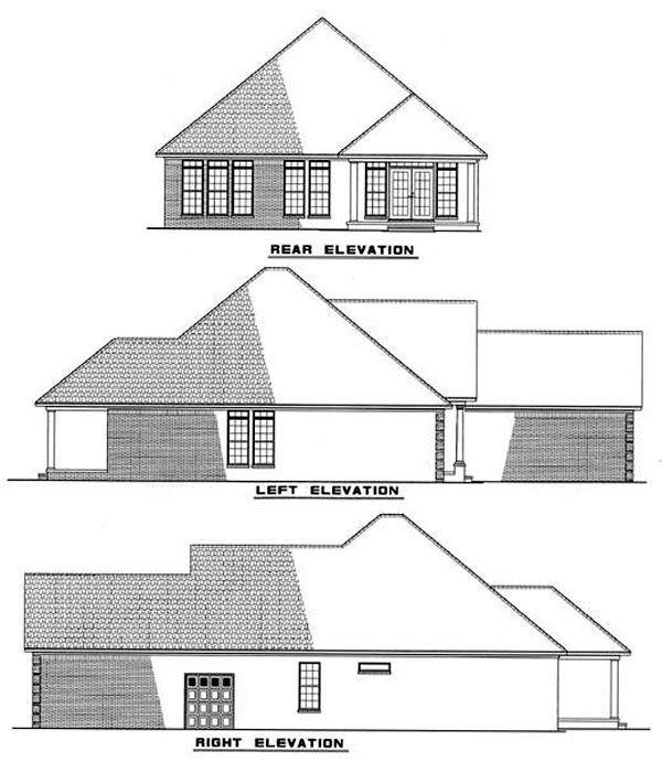 Craftsman European House Plan 82001 Rear Elevation