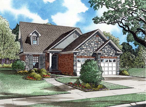 Country Craftsman House Plan 82006 Elevation