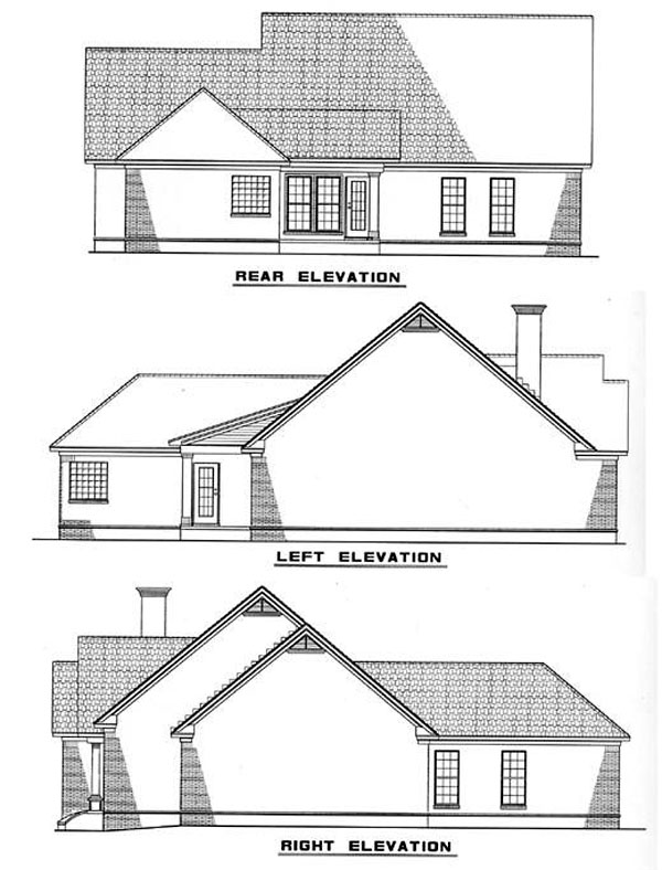 Ranch House Plan 82012 Rear Elevation