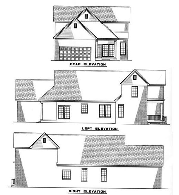 Colonial Farmhouse Traditional House Plan 82014 Rear Elevation