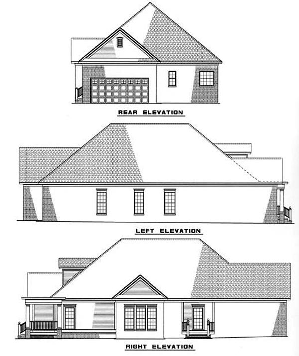 Country House Plan 82019 Rear Elevation