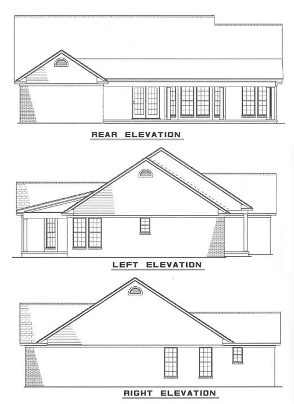 Ranch House Plan 82026 with 3 Beds, 2 Baths, 2 Car Garage Picture 5