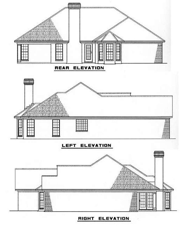 Traditional House Plan 82038 Rear Elevation