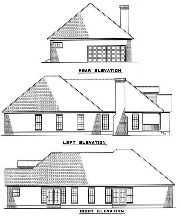 Colonial Country House Plan 82039 Rear Elevation