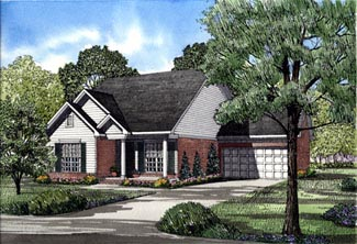 Ranch House Plan 82044 Elevation