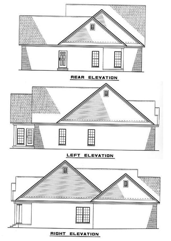 Ranch House Plan 82044 Rear Elevation
