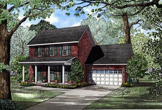 Colonial Country House Plan 82048 Elevation