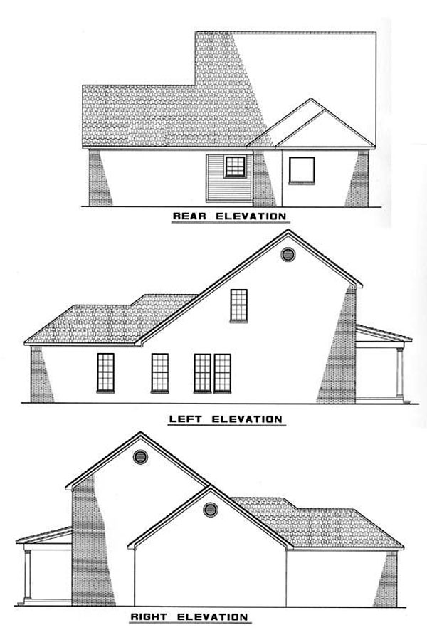 Colonial Country House Plan 82048 Rear Elevation