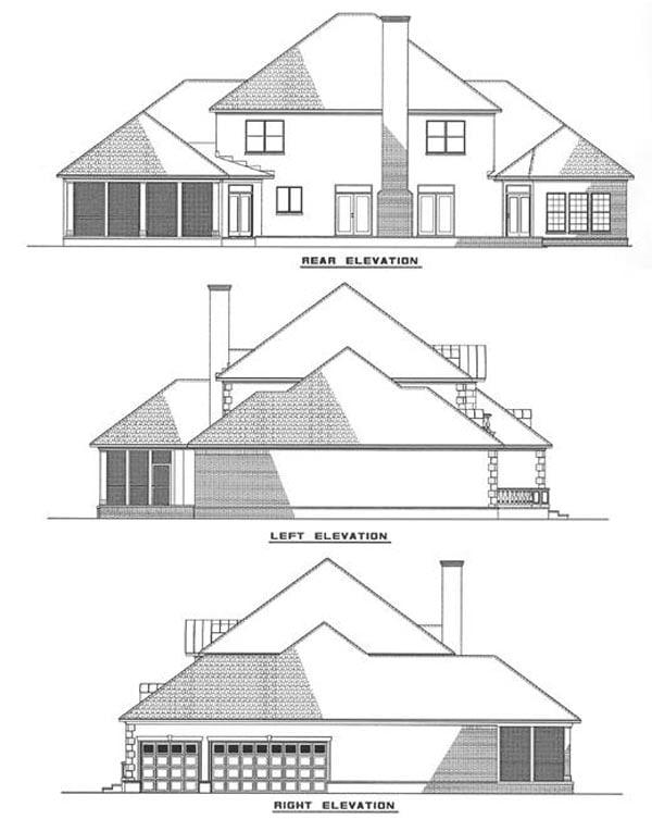 Contemporary European Modern House Plan 82057 Rear Elevation