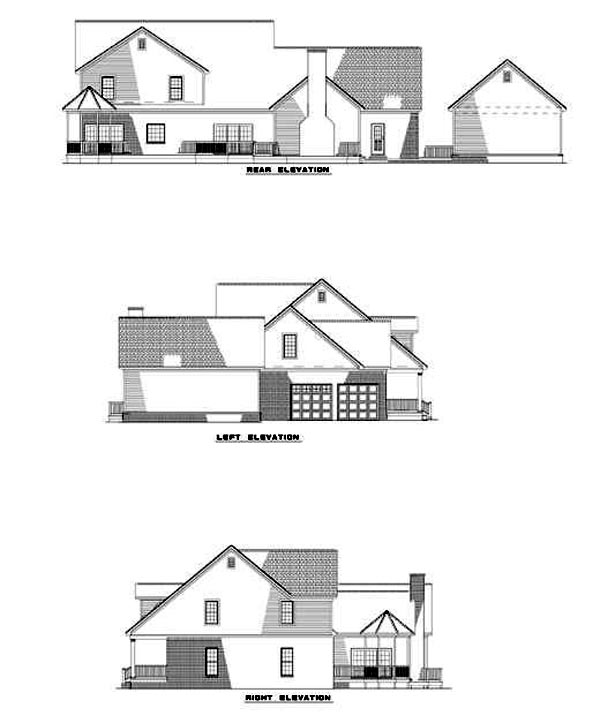 Cape Cod Country House Plan 82058 Rear Elevation